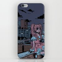 magical girl iPhone & iPod Skins featuring MONTREAL MAGICAL GIRL by Natalie Nardozza