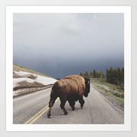 animal Art Prints featuring Street Walker by Kevin Russ