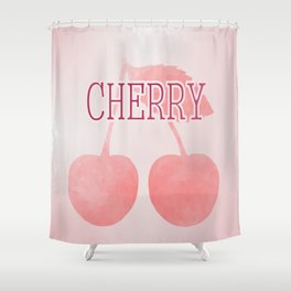 I Love Cherries Shower Curtain