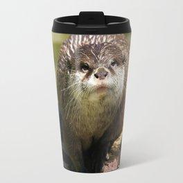 Otter on A Tree Trunk Travel Mug