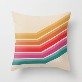 Retro - Steep Uphill #639 Throw Pillow