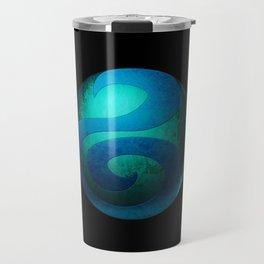 Design-22 Blue Travel Mug