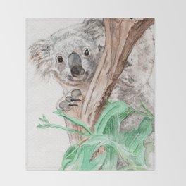 Koala Peek-A-Boo Throw Blanket