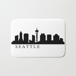Seattle skyline Bath Mat