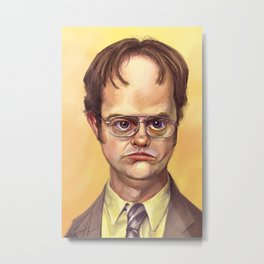 Mr. Dwight K Schrute Metal Print