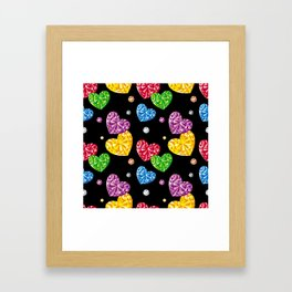 Jewellery hearts Framed Art Print