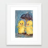 ducks Framed Art Prints featuring Ducks by Corinne Fallone