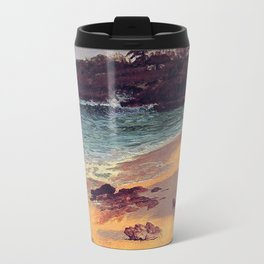 Albert Bierstadt, Bahama Cove.   Landscape oil painting. Travel Mug