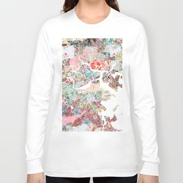 Boston map portrait Long Sleeve T-shirt