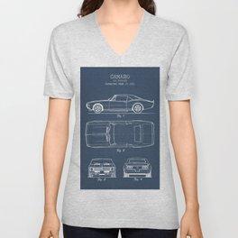 Camaro blueprint Unisex V-Neck