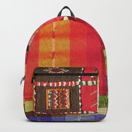 V27 Multi Colored Traditional Moroccan Lovely Textile Texture. Backpack
