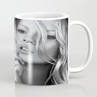 kate moss Mugs featuring KATE MOSS by I Love Decor