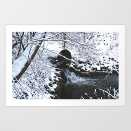 Snowfall at Brickworks on Christmas Day, 2020. LXXVI Art Print