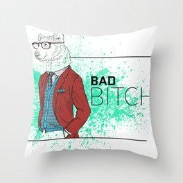 Bad News Bear Throw Pillow