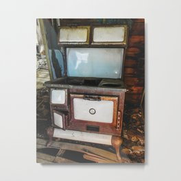 Windsor Porcelain Stove in a Ghost Town Metal Print