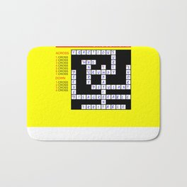 Crossword Bath Mat