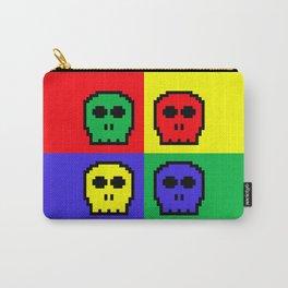 8-bit Four Color Skulls - Pixel Art Carry-All Pouch