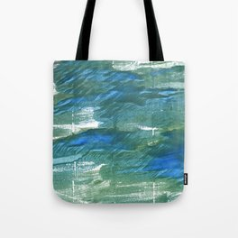 Wintergreen Dream abstract watercolor Tote Bag