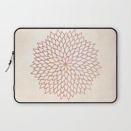 Mandala Flower Rose Gold on Cream Laptop Sleeve