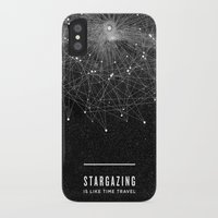 cosmos iPhone & iPod Cases featuring STARGAZING IS LIKE TIME TRAVEL by Amanda Mocci