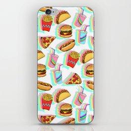 Rainbow Fast Food iPhone Skin