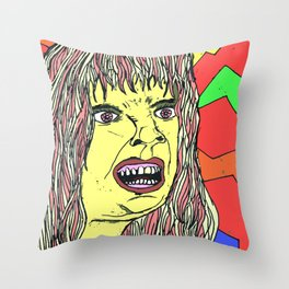 Riot Grrl Throw Pillow