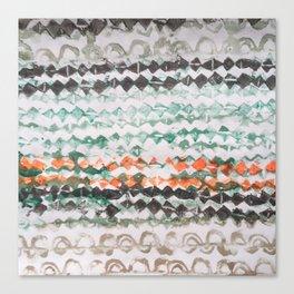 tapa - mixed bands (brown green orange) Canvas Print