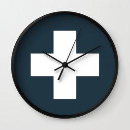 Swiss Cross Storm Wall Clock