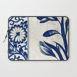Blue Oriental Vintage Tile 03 Laptop Sleeve