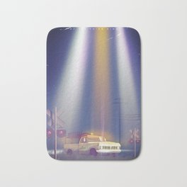 Close encounters of the third kind vintage poster Bath Mat