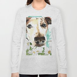 Watercolor Wildflowers & her Bestie Long Sleeve T-shirt