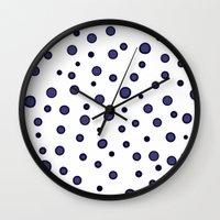 dots Wall Clocks featuring Dots by Monika Strigel®