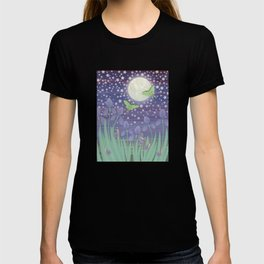 Moonlit stars, luna moths, snails, & irises T-shirt