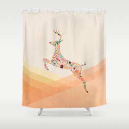 Christmas reindeer 5 Shower Curtain
