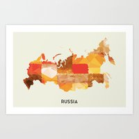 russia Art Prints featuring Russia by In Full Color