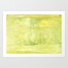 Yellow green watercolor Art Print