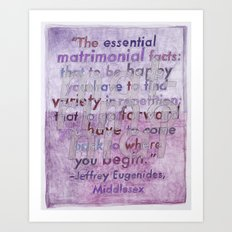 Jeffrey Eugenides on The Midwest, from The Geography Series Art Print