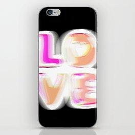 Glitch (black background) #typographyart #lettering #gimp #buyart iPhone Skin