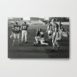American Football players Metal Print