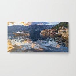 Sunset in Perast - Montenegro Metal Print