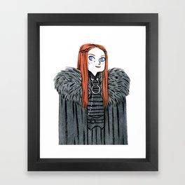 Lady Stark Framed Art Print