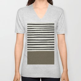 Cappuccino x Stripes Unisex V-Neck