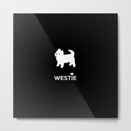 Cute Little Westie Metal Print