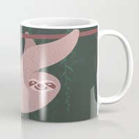 sloth Mugs featuring Sloth by AlanDalby
