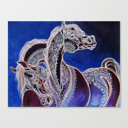 Mehandi Arabian Mares Canvas Print