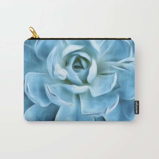 Succulent Macro Blue Carry-All Pouch