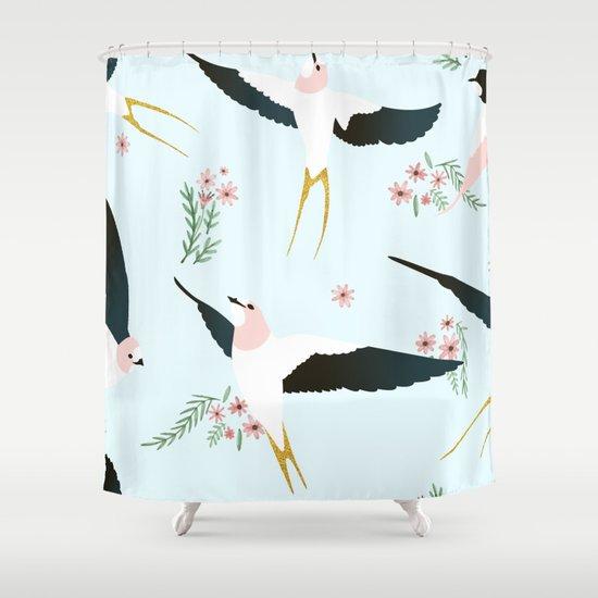 Birds Society6 Decor Buyart Shower Curtain By 83