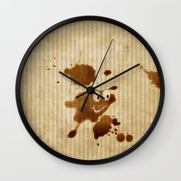 The Smile of Coffee Drop - Old Paper Style Wall Clock