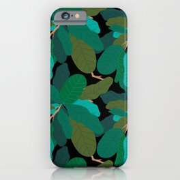 Tropicana Banana Leaves in Classic Black iPhone Case