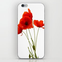 Delicate Red Poppies Vector iPhone Skin